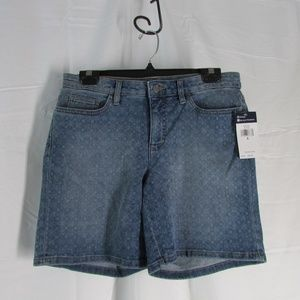 Chaps Sun Cafe Geo Square Jean Denim Shorts Size 6